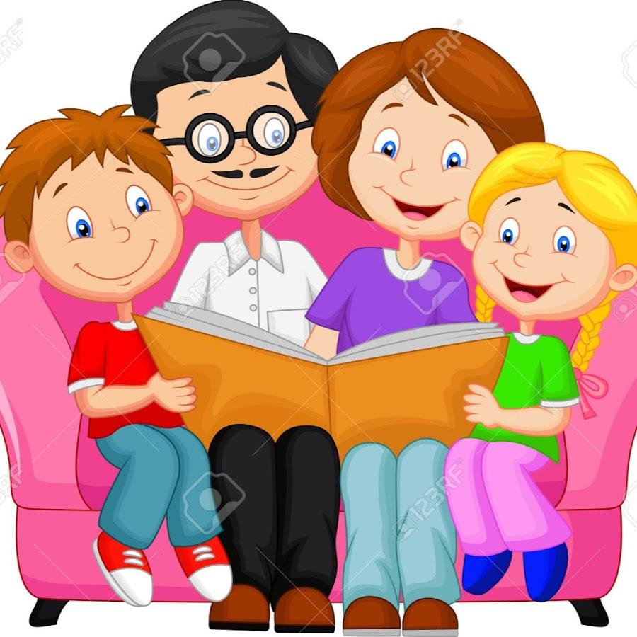 Рисунки с читающей семьей